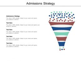 Admissions Strategy Ppt Powerpoint Presentation Slides Graphic Tips Cpb