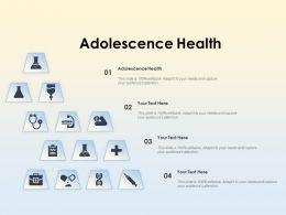 Adolescence Health Ppt Powerpoint Presentation Inspiration Graphics