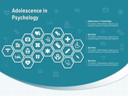 Adolescence In Psychology Ppt Powerpoint Presentation Icon Vector