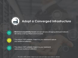 Adopt A Converged Infrastructure Minimize Ppt Powerpoint Presentation Pictures Sample Slides