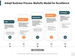 Adopt Business Process Maturity Model For Excellence Ppt Powerpoint Presentation Ideas