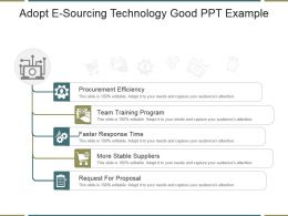 Adopt E Sourcing Technology Good Ppt Example