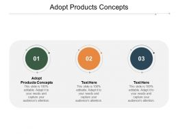 Adopt Products Concepts Ppt Powerpoint Presentation Icon Graphic Images Cpb