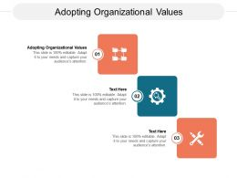 Adopting Organizational Values Ppt Powerpoint Presentation Professional Graphics Design Cpb