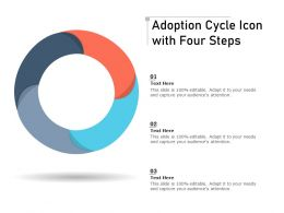 Adoption Cycle Icon With Four Steps