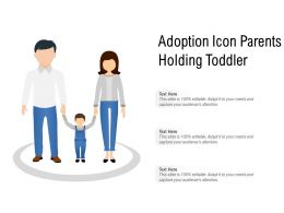 Adoption Icon Parents Holding Toddler
