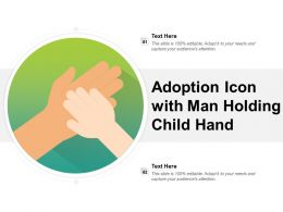 Adoption Icon With Man Holding Child Hand