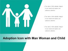 Adoption Icon With Man Woman And Child