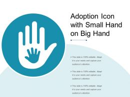 Adoption Icon With Small Hand On Big Hand