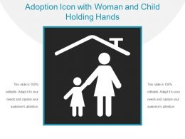 Adoption Icon With Woman And Child Holding Hands