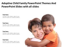 Adoptive Child Family Powerpoint Themes And Powerpoint Slides With All Slides