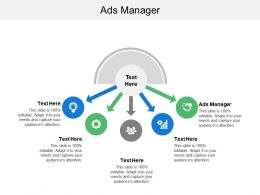 Ads Manager Ppt Powerpoint Presentation File Icon Cpb