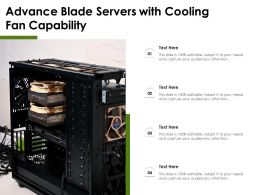 Advance Blade Servers With Cooling Fan Capability