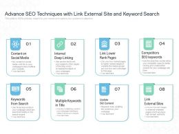 Advance SEO Techniques With Link External Site And Keyword Search