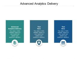 Advanced Analytics Delivery Ppt Powerpoint Presentation Outline Professional Cpb