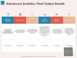 Advanced Analytics Final Output Results Data L1381 Ppt Powerpoint Presentation Styles