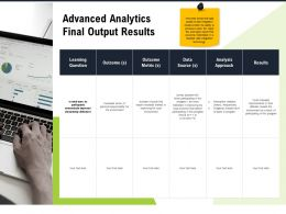 Advanced Analytics Final Output Results M2791 Ppt Powerpoint Presentation Outline Clipart
