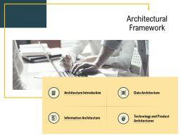 Advanced Analytics Local Environment Architectural Framework Data Architecture Ppt Show