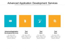 Advanced Application Development Services Ppt Powerpoint Presentation Styles Example Introduction Cpb
