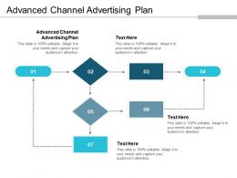 Advanced Channel Advertising Plan Ppt Powerpoint Presentation Infographic Template Portrait Cpb