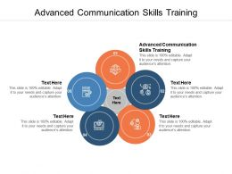 Advanced Communication Skills Training Ppt Powerpoint Presentation Styles Cpb