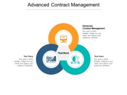 Advanced Contract Management Ppt Powerpoint Presentation Inspiration Demonstration Cpb