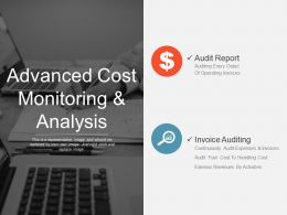 Advanced Cost Monitoring And Analysis Good Ppt Example