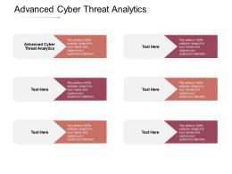 Advanced Cyber Threat Analytics Ppt Powerpoint Presentation Summary Templates Cpb
