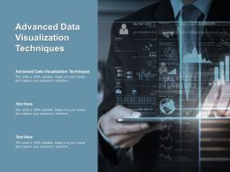 Advanced Data Visualization Techniques Ppt Powerpoint Presentation File Model Cpb