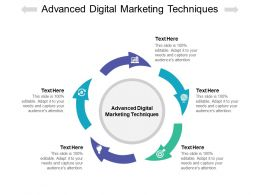 Advanced Digital Marketing Techniques Ppt Powerpoint Presentation Show Cpb