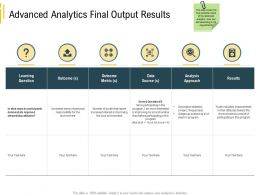 Advanced Environment Analytics Final Output Results Local Environment Ppt Samples