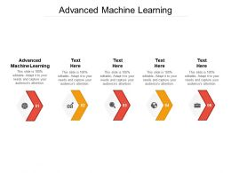 Advanced Machine Learning Ppt Powerpoint Presentation Infographic Template Designs Download Cpb