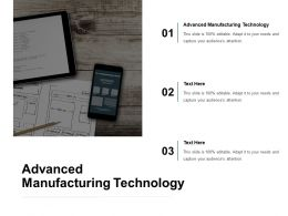 Advanced Manufacturing Technology Ppt Powerpoint Presentation Inspiration Cpb