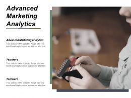 Advanced Marketing Analytics Ppt Powerpoint Presentation Gallery Graphic Tips Cpb