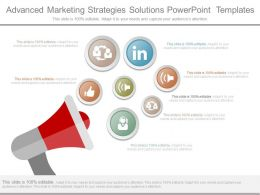 Advanced Marketing Strategies Solutions Powerpoint Templates