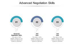 Advanced Negotiation Skills Ppt Powerpoint Presentation Icon Slide Download Cpb