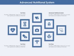 Advanced Nutritional System Ppt Powerpoint Presentation Infographics Brochure