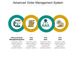 Advanced Order Management System Ppt Powerpoint Presentation Gallery Cpb
