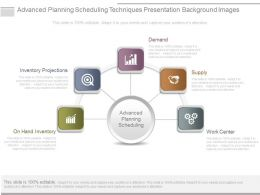 Advanced Planning Scheduling Techniques Presentation Background Images