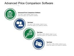 Advanced Price Comparison Software Ppt Powerpoint Presentation Model Skills Cpb