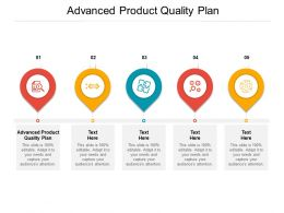 Advanced Product Quality Plan Ppt Powerpoint Presentation Inspiration Graphics Pictures Cpb