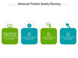 Advanced Product Quality Planning Ppt Powerpoint Presentation Model Gallery Cpb