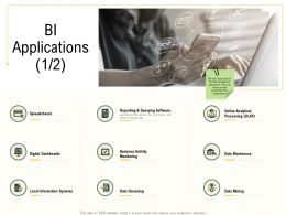 Advanced Results Local Environment Bi Applications Data Mining Ppt Styles Master Slide