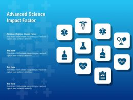 Advanced Science Impact Factor Ppt Powerpoint Presentation File Show