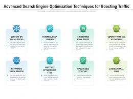 Advanced Search Engine Optimization Techniques For Boosting Traffic