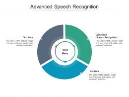 Advanced Speech Recognition Ppt Powerpoint Presentation Ideas Microsoft Cpb
