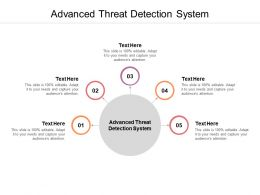 Advanced Threat Detection System Ppt Powerpoint Presentation Styles Themes Cpb