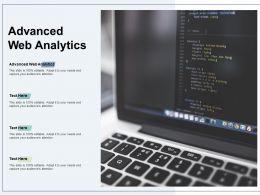Advanced Web Analytics Ppt Powerpoint Presentation Layouts Graphics Tutorials Cpb