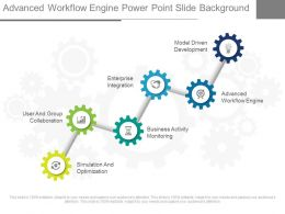 Advanced Workflow Engine Power Point Slide Background