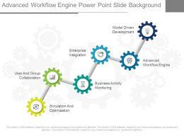 Advanced Workflow Engine Power Point Slide Background